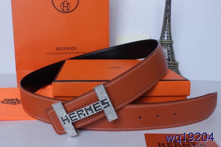New Hermes Belt with Silver H Buckle Orange Mens Cheap Sale